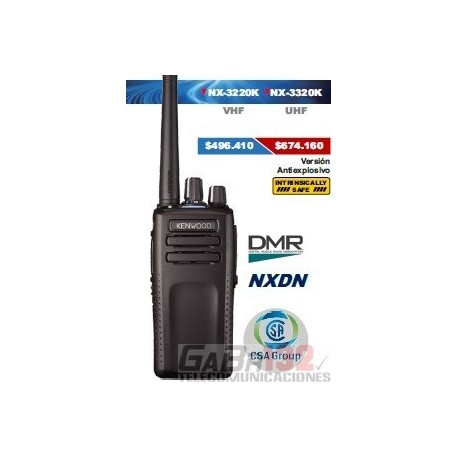 Portátil Kenwood NX-3220K VHF / Digital DMR