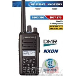 Portátil Kenwood NX-3220K3 VHF / Digital DMR