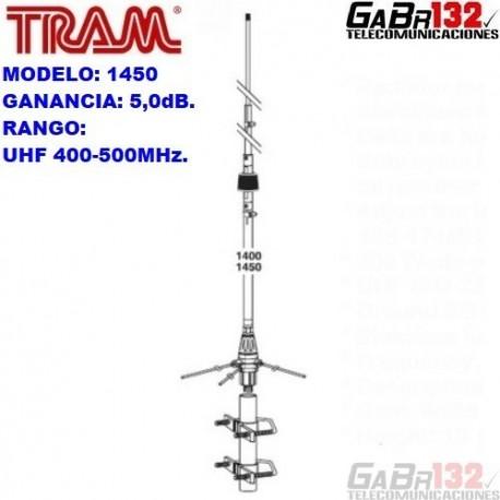 TRAM 1450: Antena Base UHF de Aluminio