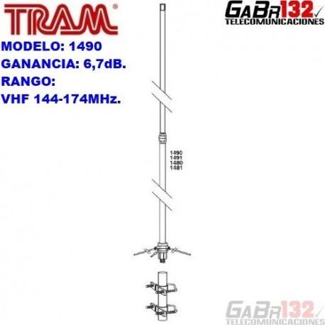 TRAM 1490: Antena Base VHF de Fibra de Vidrio