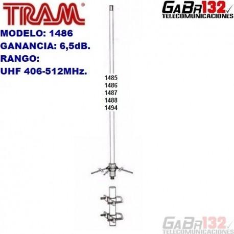 TRAM 1486: Antena Base UHF de Fibra de Vidrio