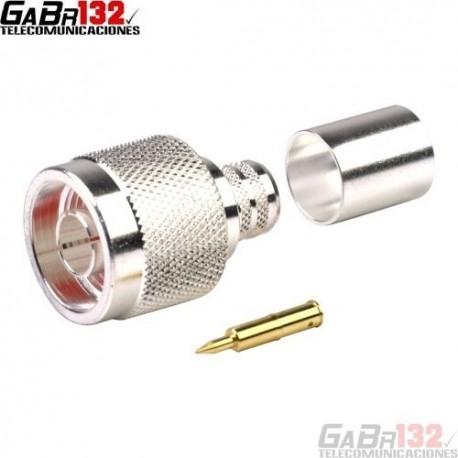 Conector N-Macho Crimp para Coaxial RG-213/RG-8U