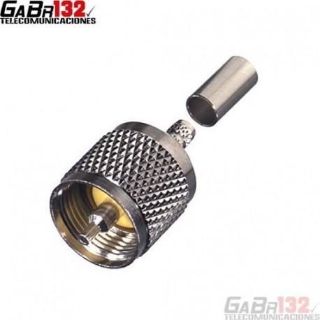 Conector PL-259 (UHF-Macho) para Coaxial RG-58