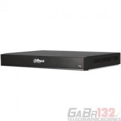 XVR Dahua 4K 16CH HDCVI + 16IP 2HDD Alarma 16/3 Audio 4/1 IVS 1U H.265+