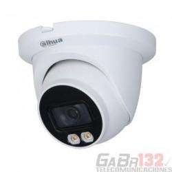 Camara Dahua IP domo Full-Color con inteligencia 4MP 2.8mm LED 30M PoE IP67 Microfono integrado
