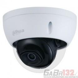 Cámara Dahua IP domo con inteligencia artificial 5MP 2.8mm IR50 PoE IP67 IK10 Soporta Micro SD