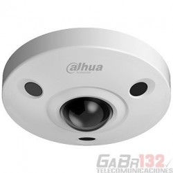 Cámara Dahua IP Domo 12MP 1.85mm Fisheye IR10 Micrófono PoE Alarma 2/2 Audio 1/1 Slot MicroSD IP67 IK10