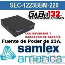 SEC-1223BBM Fuente de Poder SamlexAmérica de 23A. con Reversor y Cargador de Batería