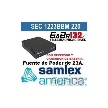 SEC-1223BRM Fuente de Poder SamlexAmérica de 23A. con Reversor y Cargador de Batería