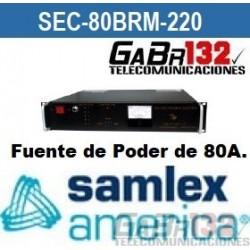 SEC-80BRM Fuente de Poder SamlexAmérica de 80A.