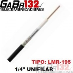 """GB-195 Cable Coaxial 1/4"""" Unifilar"""
