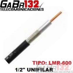 """GB-600 Cable Coaxial 1/2"""" Unifilar"""
