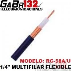 """RG58A/U Cable Coaxial 1/4"""" Multifilar"""
