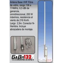 Antena Base VHF de 6,5dBi en Fibra de Vidrio
